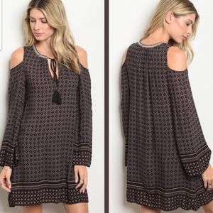 Cold Shoulder Dress  LARGE